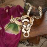 uzbek silk, tribal necklace, tribal basket
