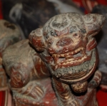 painted stone fu lions china 18c
