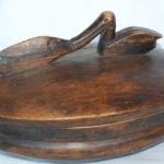 lozi tribal wood bowl, zambia