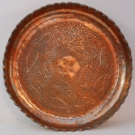 old persian copper tray